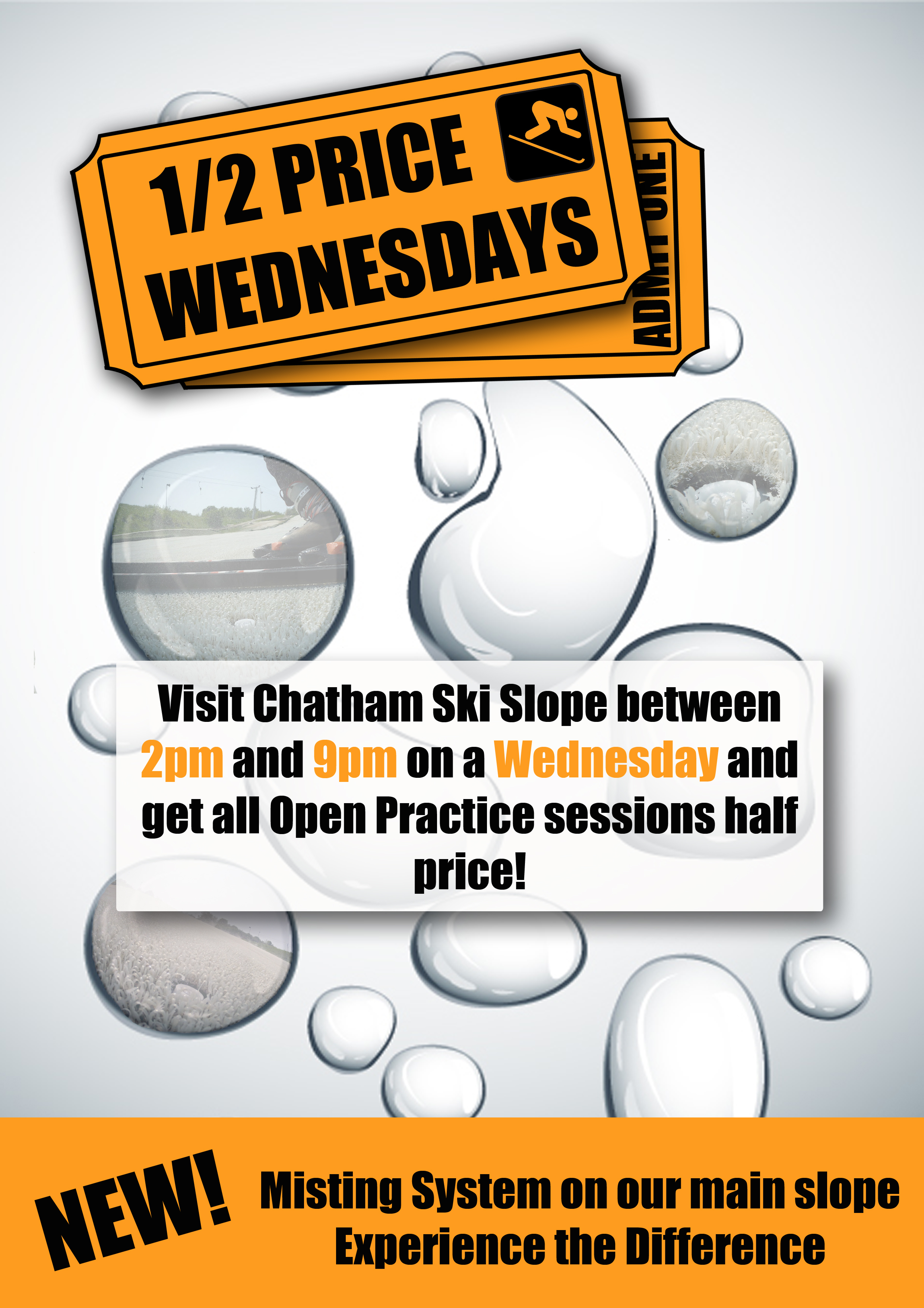 Half Price Wednesday – Skiing or Snowboarding